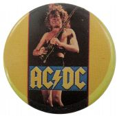 AC/DC - 'Angus Yellow' Button Badge